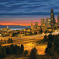 Seattle Cityscape After Sunset by Jit Lim