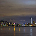 Seattle Cityscape At Night by SC Heffner