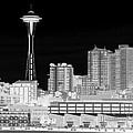 Seattle Cityscape - BW Negative