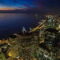 Seattle Dusk Colors by Mike Reid
