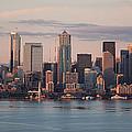 Seattle Dusk Skyline by Mike Reid
