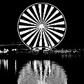 Seattle Great Wheel Black And White by Benjamin Yeager