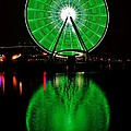 Seattle Great Wheel In Motion by Benjamin Yeager