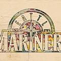 Seattle Mariners Poster Art by Florian Rodarte