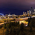 Seattle Night Panorama by Dustin  LeFevre