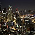 Seattle Skyline At Night by Stacey May