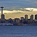 Seattle Skyline In Twilight by SC Heffner