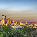 Seattle Skyline Lens Baby Hdr by Scott Campbell