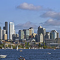 Seattle Skyline On Lake Union by David Gn