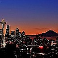 Seattle Sunrise Panorama by Benjamin Yeager