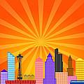 Seattle Washington City Skyline Panorama by Jit Lim