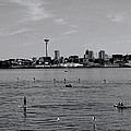 Seattle Waterfront Bw 2 by Cathy Anderson