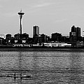Seattle Waterfront Bw by Cathy Anderson