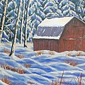 Secluded Barn by Susan DeLain