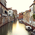 Secluded Canal In Venice Italy by Ernst Cerjak