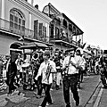 Second Line Parade Bw by Steve Harrington