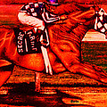 Secretariat Making His Move Red by Bets Klieger