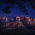 Sedona Cathedral Rock Post Sunset Glow by Mary Jo Allen