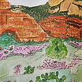 Sedona Mountain With Pears And Clover by Marcia Weller-Wenbert