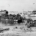 Seebee Rhino Ferries On D-day by Underwood Archives