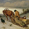 Seeing Off The Dead, 1865 Oil On Canvas by Vasili Grigorevich Perov