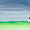 Seeking Refuge Before The Storm Alligator Reef Lighthouse by Michelle Constantine