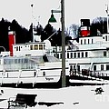 Segwun And Wenonah Steamships In Winter by Gail Matthews