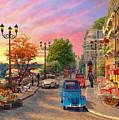 Seine Sunset by Dominic Davison
