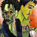 Self-portrait - Double Portrait by Ernst Ludwig Kirchner