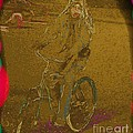 Self Portrait - Artist On Bicycle by Susan Carella