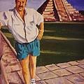 Self Portrait At Chichen Itza by John Malone