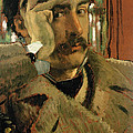 Self Portrait, C.1865 Panel by James Jacques Joseph Tissot