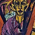 Self-portrait by Ernst Ludwig Kirchner