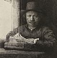 Self-portrait Etching At A Window by Rembrandt