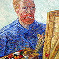 Self Portrait In Front Of Easel by Tom Roderick