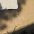 Self Portrait Shadow Wall Casa Grande Arizona 2004 by David Lee Guss