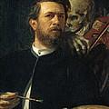 Self Portrait With Death by Arnold Bocklin