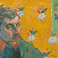 Self-portrait With Portrait Of Bernard. Les Miserables. by Paul Gauguin