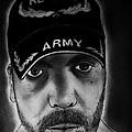 Self Portrait With Us Army Retired Cap by Jose A Gonzalez Jr