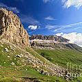 Sella Mountain And Pordoi Pass by Antonio Scarpi