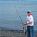 Senior Caught A Pollock In Kachemak Bay Off Homer Spit-alaska by Ruth Hager