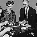 Seniors Playing Dominos by Underwood Archives