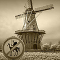 Sepia Colored No Tilting At Windmills by Randall Nyhof