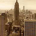 Sepia Empire State Building New York City by Dan Sproul
