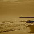 Sepia Lighthouse by Frozen in Time Fine Art Photography