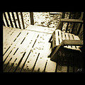 Sepia - Nature Paws In The Snow by Absinthe Art By Michelle LeAnn Scott