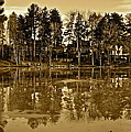 Sepia Reflection by Frozen in Time Fine Art Photography