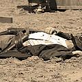 Sepia Rodeo Gunslinger Victim by Sally Rockefeller