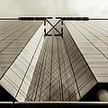 Sepia Skyscraper Series - Long View by Steven Milner