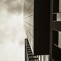 Sepia Skyscraper Series - Top Down by Steven Milner